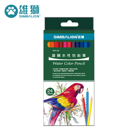 雄獅 WTP-24A 水性色鉛筆24色組 (紙盒)