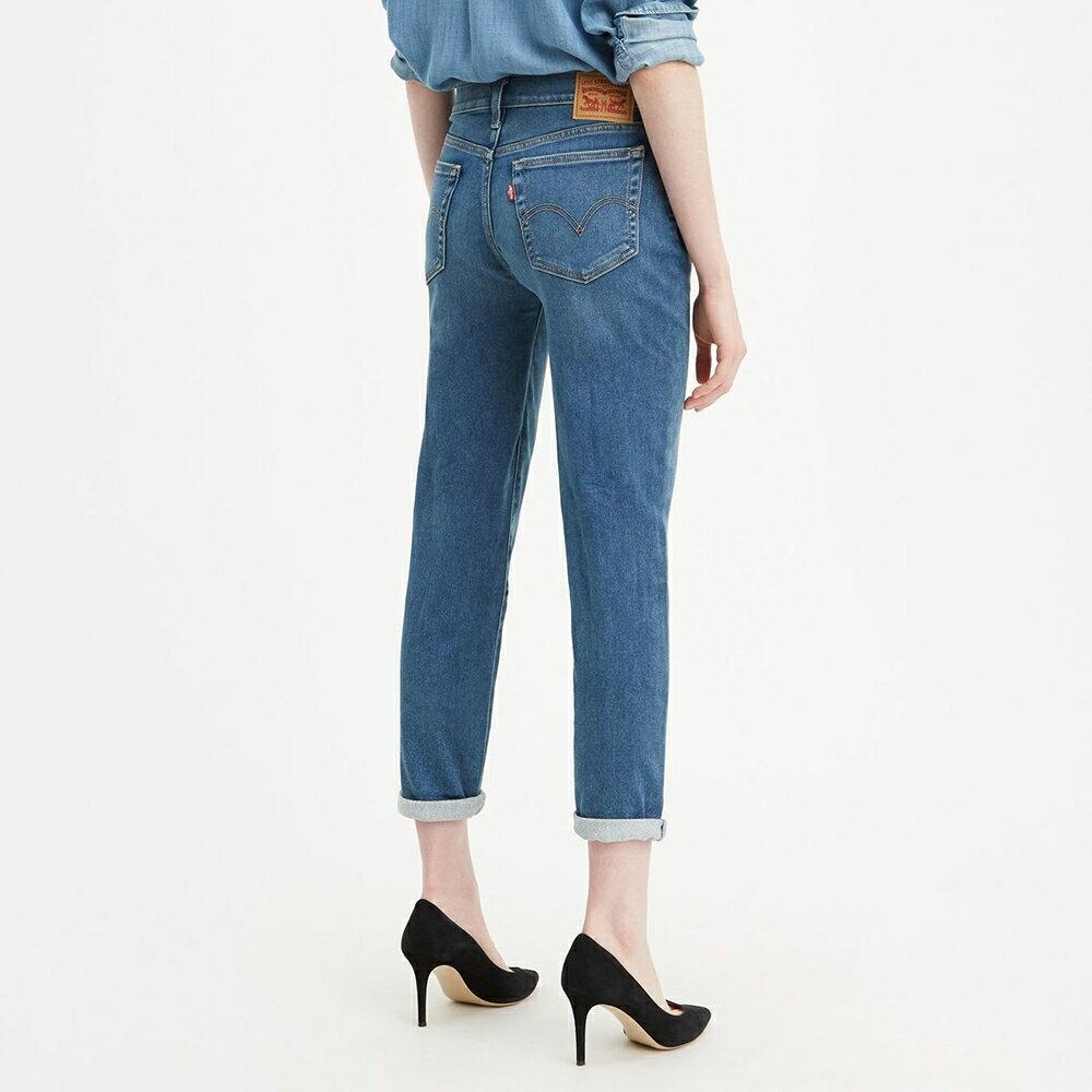 Levis 男友褲  /  中腰寬鬆版牛仔褲  /  淺藍刷白  /  彈性布料 3