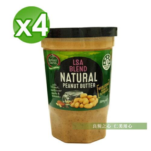 MotherEarth紐西蘭綜合堅果花生醬(380g罐)x4