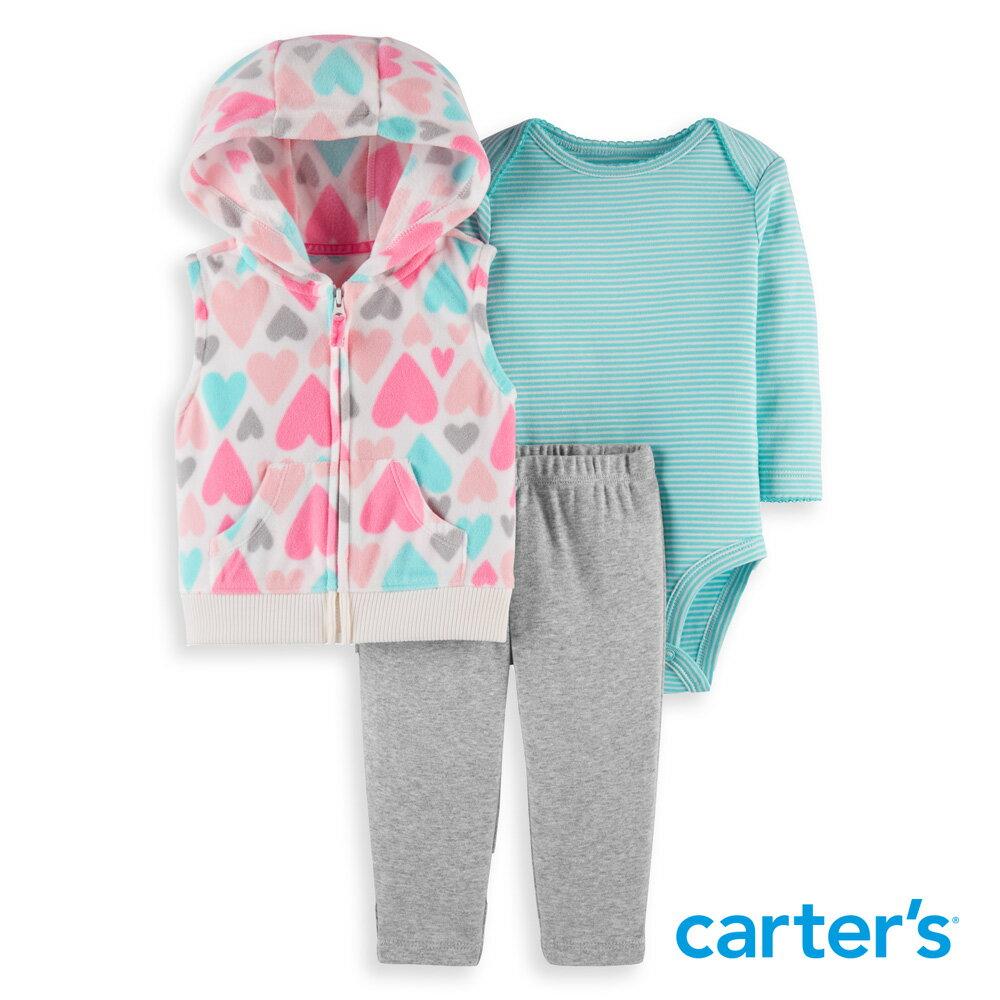 Carter's 繽紛愛心3件組套裝 - 限時優惠好康折扣