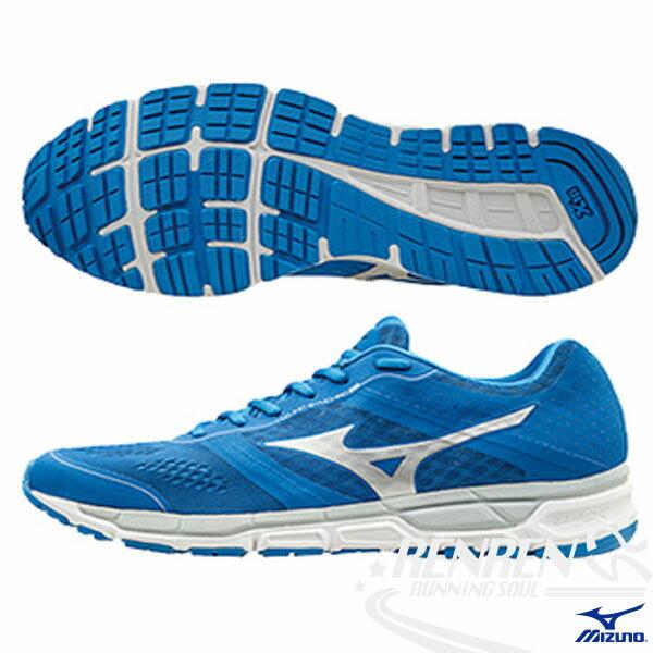 MIZUNO 美津濃  MIZUNO SYNCHRO MX 男慢跑鞋 (藍*白)  休閒款