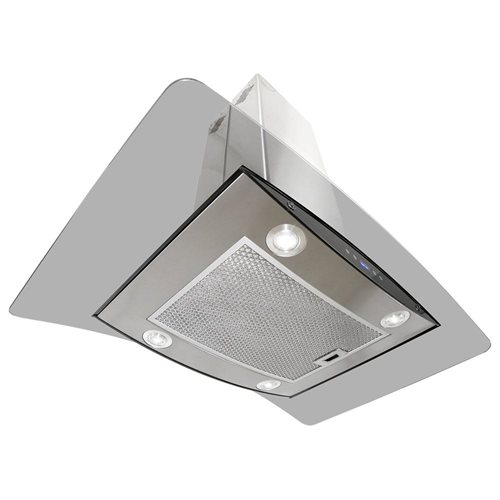 """AKDY New 36"""" European Style Island Mount Stainless Steel Range Hood Vent Touch Sensor Control W/Both Side Accessible Control AKTK-H603B-90 3"""