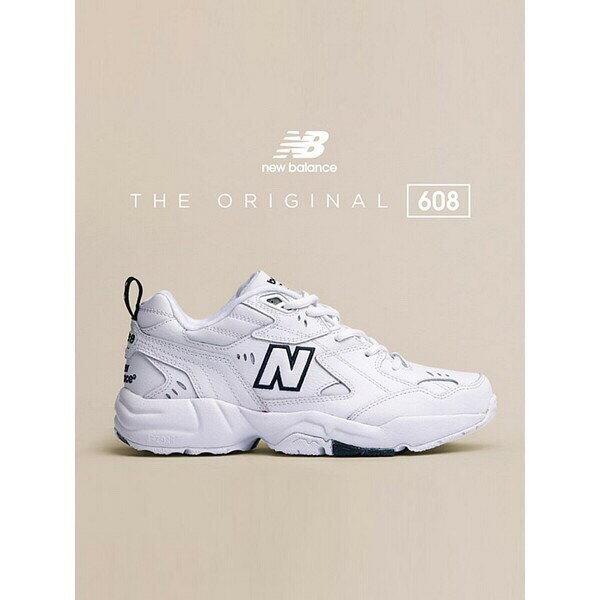 kumo shoes- New Balance 608 NB608 全白 IU 復古 老爹鞋 女鞋WX608WT