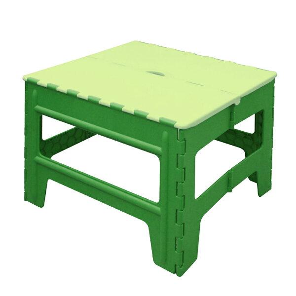 WallyFun戶外休閒折疊桌-綠色(收納不占空間,外出旅遊烤肉好幫手)