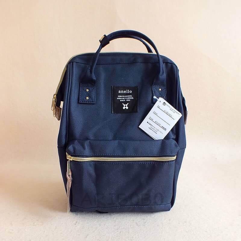 【日本anello】ANELLO 雙肩後背包 《大號》- 深藍【滿3000領券現折300】 0