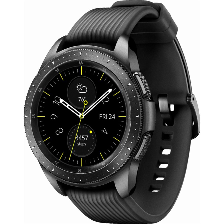 1456af591dca3 SAMSUNG Galaxy Watch 42mm SM-R810 Smartwatch Bluetooth Only - Midnight  Black - International Model