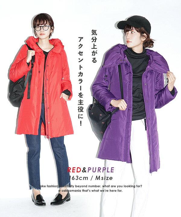 e-zakka 休閒長款羽絨大衣 / 32566-1501170。8色。(4212)日本必買 日本樂天代購 3