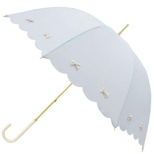 日本代購預購蝴蝶結遮陽傘雨傘直立傘晴雨兩用傘長傘單人傘用傘紙箱運送555-14170