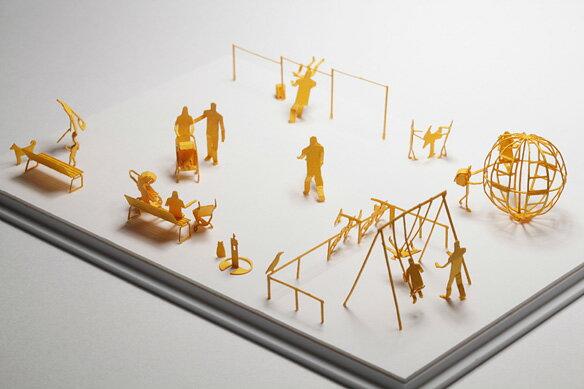 【寺田模型】建築紙模型公園親子手作DIY交換禮物