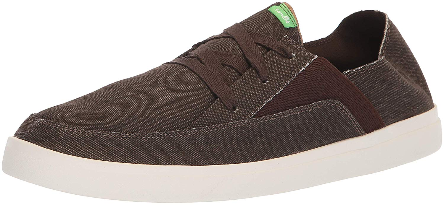 3c33514dadd Sanuk Mens Pick Pocket Fabric Low Top Lace Up Fashion Sneakers