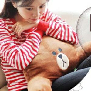美麗大街【106011917】LINE 熊大 抱枕 靠枕 枕頭 腰靠枕