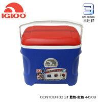 新手露營用品推薦到【熱賣中】IgLoo CONTOUR系列30QT冰桶44208 /城市綠洲專賣 (保鮮、保冷、美國製造、露營、釣魚)