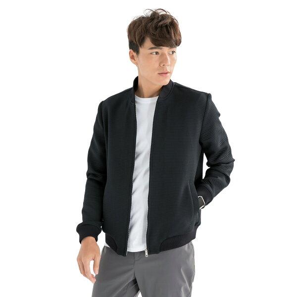 VEPRISTY-超潑水壓紋經典飛行外套(男版-經典黑)