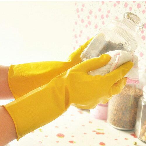 PS Mall 薄款洗碗洗衣手套 防滑橡膠手套【J1967】 0