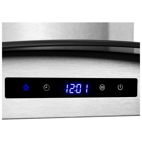 "30"" Stainless Steel Wall Mount Range Hood Touch Screen Control Light Aluminum Mesh Filter 2"
