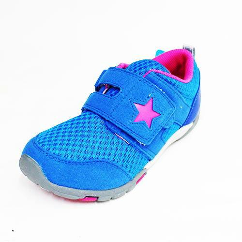 Moonstar日本品牌Carrot機能魔鬼氈童鞋CRC21333藍[陽光樂活]