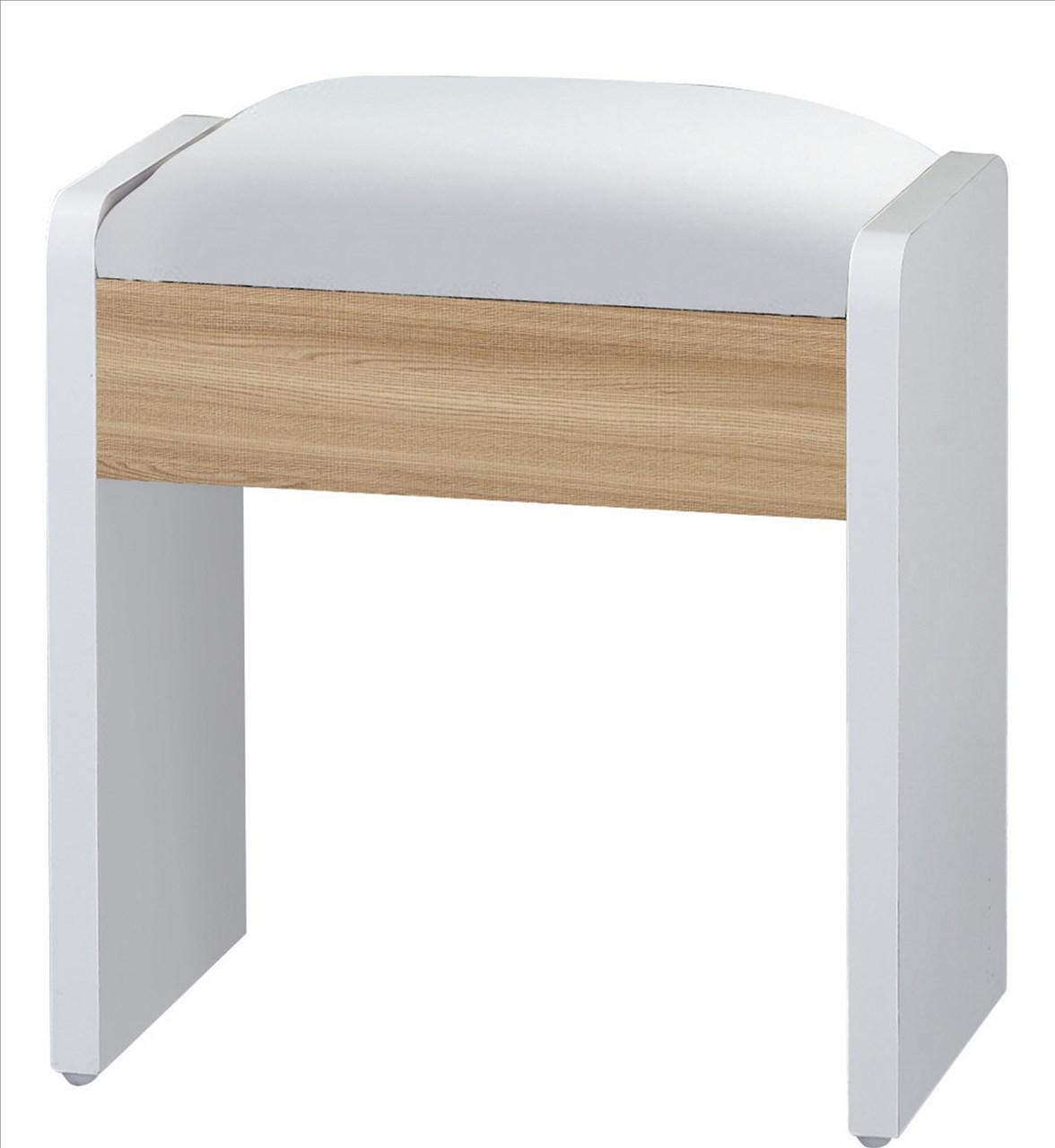 【石川家居】GD-477-5 艾美爾系統 北美橡木 化妝椅(單)(不含其他商品) 台中以北搭配車趟免運