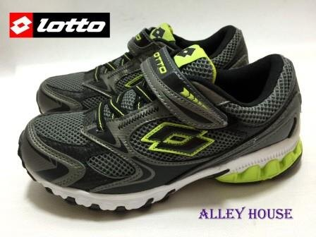 【巷子屋】義大利第一品牌-LOTTO樂得 男大童五大機能超輕量慢跑鞋 [7155] 灰綠 超值價$398
