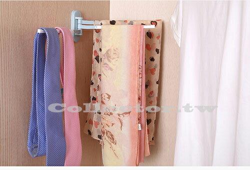 日式不佔空間粘貼式旋轉毛巾架 廚房抹布架 免打孔掛架 毛巾架