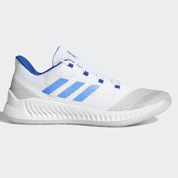 AdidasHardenBE2男鞋籃球哈登透氣避震白藍【運動世界】BB7672