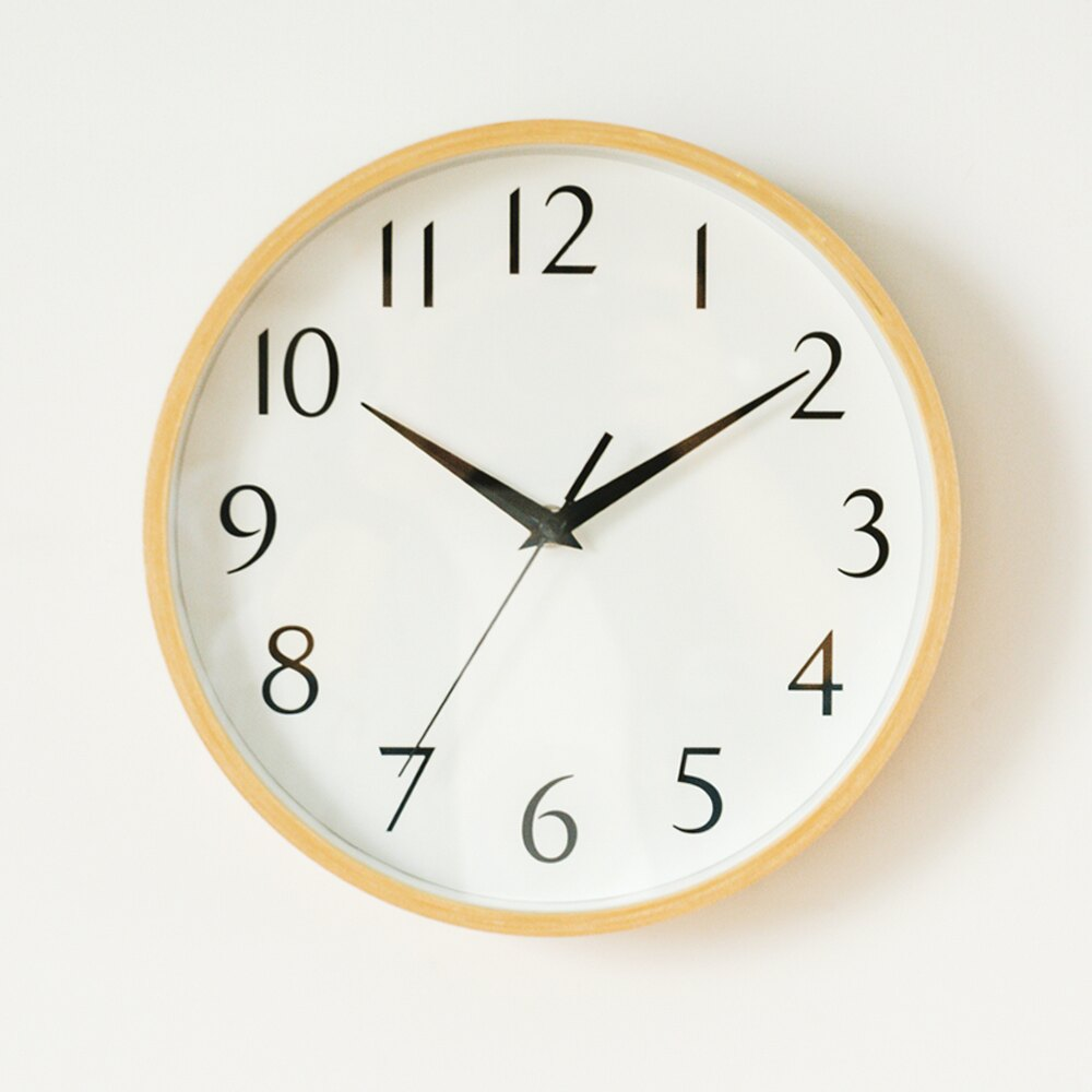 手錶  時鐘  掛鐘 木紋無印簡約時鐘 MIT 製 完美主義~I0234~