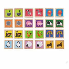 【淘氣寶寶】德國Hape愛傑卡動物記憶遊戲
