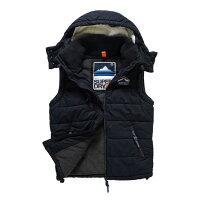 極度乾燥商品推薦到美國百分百【全新真品】Superdry 極度乾燥 Bluestone 連帽 背心 外套 刷毛 防風 海軍藍 G150就在美國百分百推薦極度乾燥商品