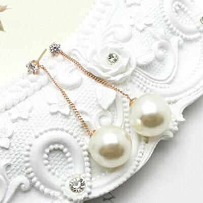 玫瑰金耳環925純銀鑲鑽耳飾 ~ 復古流蘇百搭七夕情人節 女飾品2色73gs112~ ~~