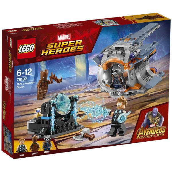 【LEGO樂高積木】SUPERHEROES超級英雄系列ThorsWeaponQuestLT-76102