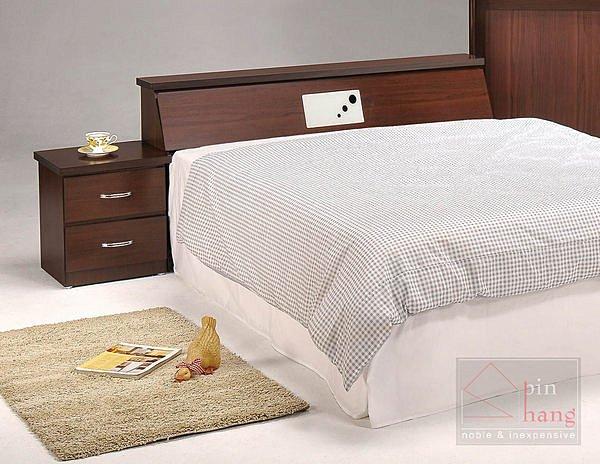 【尚品傢俱】GF-C03 貝拉胡桃5尺床頭箱床前箱~另售3.5尺、6尺~另有白橡色