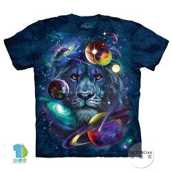 【摩達客】(預購) 美國進口The Mountain 宇宙獅子 純棉環保短袖T恤