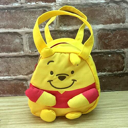 <br/><br/>  【真愛日本】 17051700010 立體造型拉鍊提袋-PH黃 迪士尼 小熊維尼 POOH 便當袋 餐袋 手提包包<br/><br/>