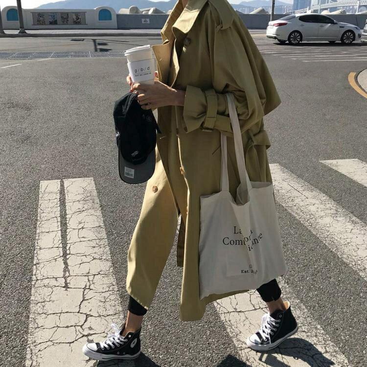 風衣風衣女中長款韓版春季2019年新款港味復古氣質外套卡其色初秋外衣