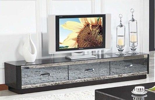!!新生活家具!! 電視櫃 烤漆 玻璃 鏡面藍玻璃 電視櫃 鏡夜奏鳴曲 非 H&D ikea 宜家