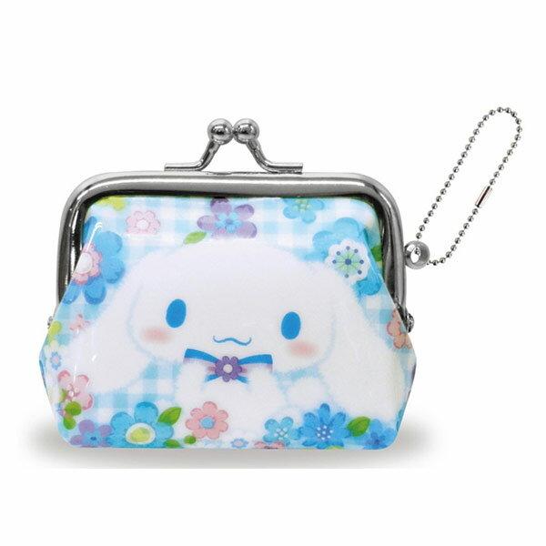 格紋款【日本進口正版】大耳狗 Cinnamoroll 珠扣包 零錢包 三麗鷗 Sanrio - 052021