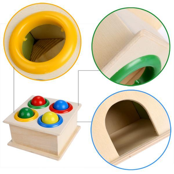 Children Early Education Interest Multi-color Small Hit Ball Box Toys 4
