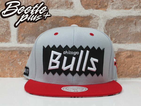 BEETLE PLUS MITCHELL&NESS X BAIT X NBA BULLS 公牛 灰紅 JORDAN ROSE SNAPBACK MN-119 0