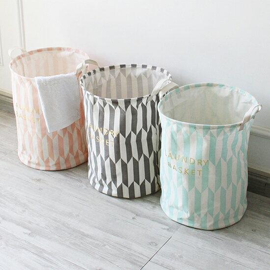 ♚MYCOLOR♚防水燙金桶收納桶可折疊手提印花收納桶簡約日系【P315】