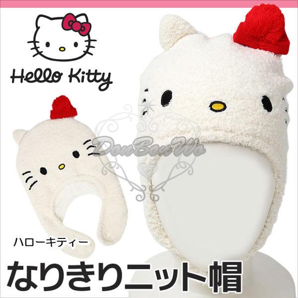 KITTY帽子兒童保暖頭套暖冬小物大臉102101海渡