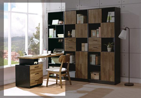 【尚品傢俱】HY-A511-04科隆伸縮h型書櫥桌組