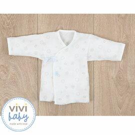 ViViBaby - 貝殼花紗布肚衣 (藍)