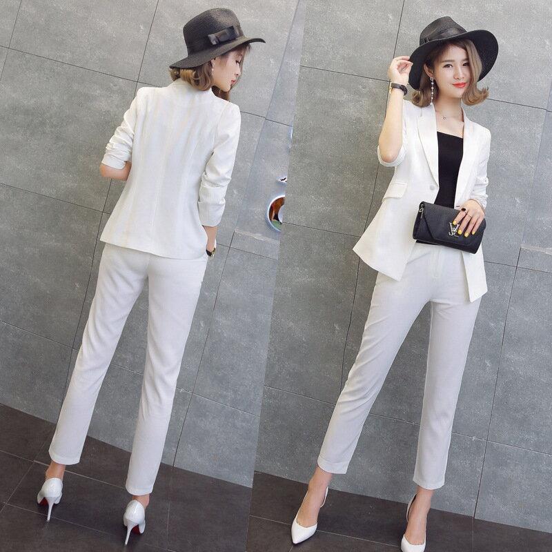 西裝套裝西裝外套+長褲(兩件套)-純色修身氣質一粒扣女西服3色73xs3【獨家進口】【米蘭精品】