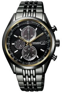 CITIZEN星辰錶CA0457-82E百年限定光動能黑金魔力計時腕錶黑40mm