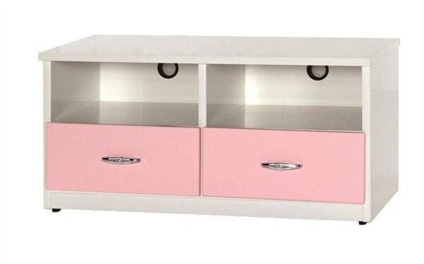 【石川家居】842-09(3.3尺粉紅白色)電視櫃(CT-212)#訂製預購款式#環保塑鋼P無毒防霉易清潔