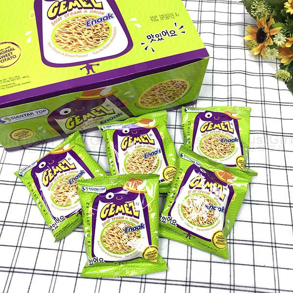 Enaak洋蔥風味點心麵點心麵洋蔥脆麵王子麵零食隨手包一盒30包食品日本製造進口JustGirl