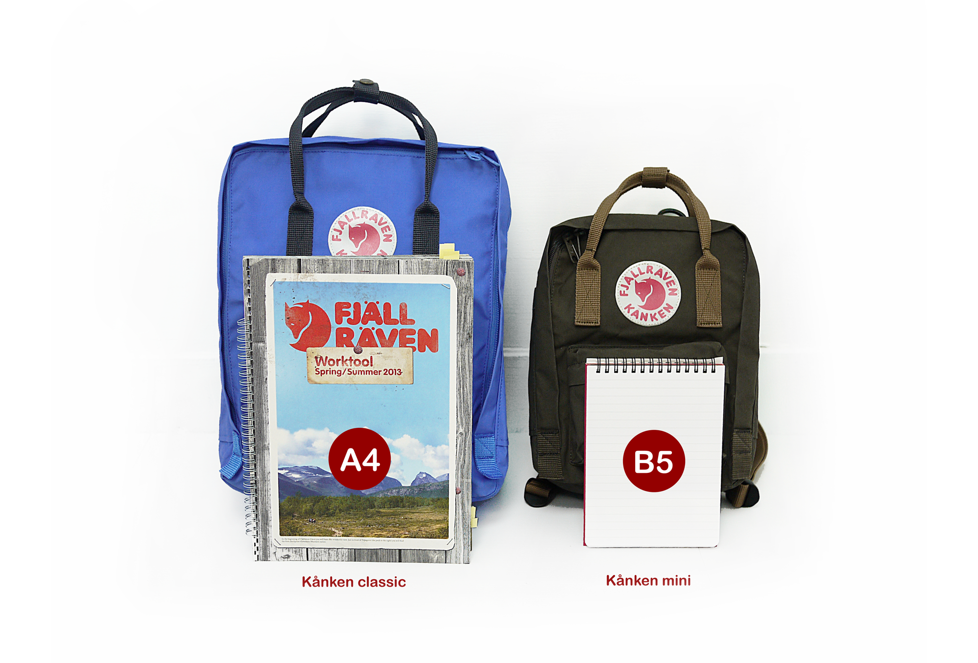 【Fjallraven Kanken 】K?nken Classic 550-326 Black & Ox Red 黑公牛紅 5