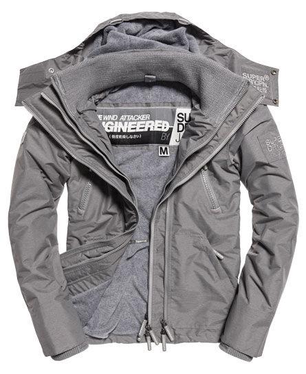 【蟹老闆】SUPERDRY 經典基本款 灰色內裡 淺灰 防風外套 防潑水機能性風衣外套 Artic Wind Attacker 男款