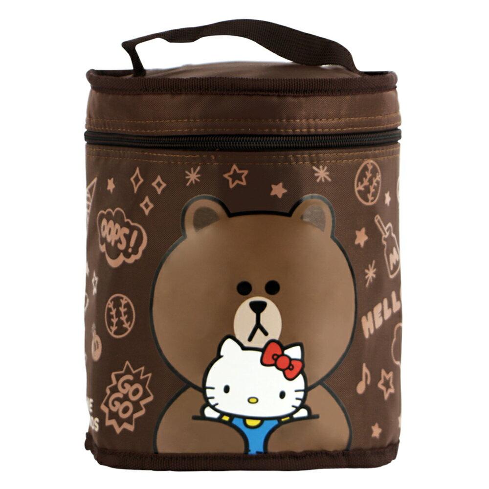 Hello Kitty+LINE熊大圓形保溫便當袋(ML0250K)
