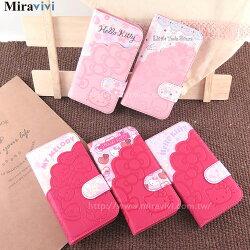 Sanrio三麗鷗iPhone 7(4.7吋)口袋拼接彩繪皮革筆記本式皮套