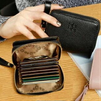 【喜番屋】真皮牛皮女士10卡位拉鍊皮夾皮包錢夾零錢包短夾中夾女包女夾LH420 【喜番屋】
